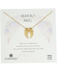 Dogeared - Heavenly Angel, Slide Through Angel Wing Necklace (sterling Silver) Necklace - Lyst