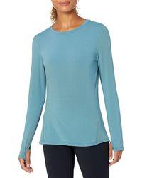 Jockey Long Sleeve Brushed Stripe Pullover - Blue