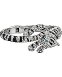 Betsey Johnson - Tiger Hinged Bangle Bracelet (crystal) Bracelet - Lyst