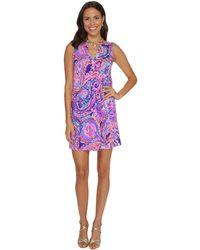 Lilly Pulitzer - Dev Dress (serene Blue Tropic Call Me) Women's Dress - Lyst