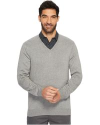 Perry Ellis - Classic Solid V-neck Sweater (smoke Heather) Men's Sweater - Lyst