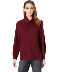 Vince Camuto - Long Sleeve Rib Turtleneck Slouchy Sweater (manor Red) Women's Sweater - Lyst