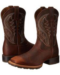 d884445f165 Lyst - Ariat Hybrid Rancher Steel Toe in Brown for Men