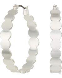 Lucky Brand Jewelry Basic Metal Scallop Hoop Earrings - Metallic
