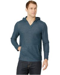 Threads For Thought Baja Terry Poncho Pullover - Blue