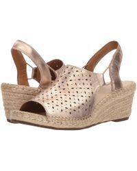 381a4613dfe Clarks - Petrina Gail (navy Nubuck) Women s Shoes - Lyst
