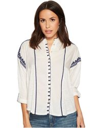 Lucky Brand - Embroidered Scalloped Top - Lyst