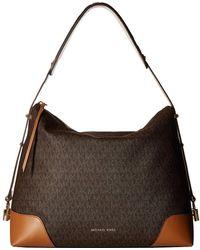 db7c7712c3 MICHAEL Michael Kors - Crosby Large Shoulder (vanilla acorn) Tote Handbags  - Lyst
