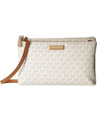 MICHAEL Michael Kors - Double Zip Crossbody (truffle) Cross Body Handbags - Lyst