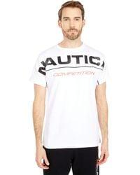 Nautica Competition Short Sleeve T-shirt Clothing - White