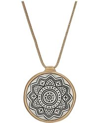 "The Sak - Etched Inlay Pendant Necklace 28"" - Lyst"