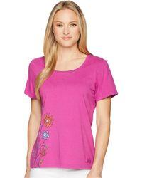 Life Is Good. - Keep It Wildflowers Crusher Scoop Tee (sassy Magenta) Women's T Shirt - Lyst