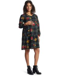 Everly Grey Tara Maternity/nursing Dress - Black