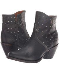 Lucchese - Harley (chocolate Stonewash) Cowboy Boots - Lyst