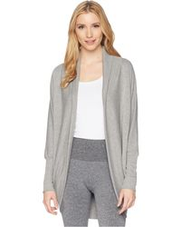 Jockey Active - Cocoon Wrap (light Charcoal) Women's Sweater - Lyst