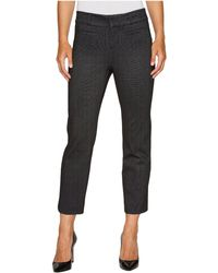 Liverpool Jeans Company - Vera Crop Flare Trousers With Welt Pockets In Mini Check Ponte Knit - Lyst
