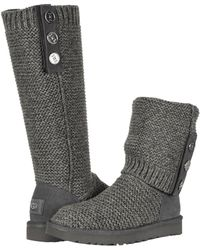 3eb77c49b70 UGG Purl Cardy Knit (black) Women's Pull-on Boots in Natural - Lyst