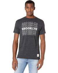 The Original Retro Brand Vintage Tri-blend Brooklyn Short Sleeve Tee - Gray