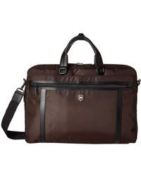 Victorinox 15 Werks Professional 2.0 Laptop Brief Bags - Brown