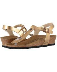 f7e718527525 Birkenstock - Ashley By Papillio (metallic Silver Birko-flor) Women s  Sandals - Lyst