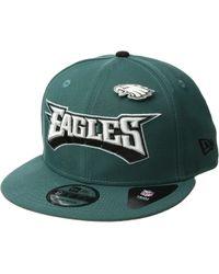 KTZ - Philadelphia Eagles Pinned Snap (dark Green) Baseball Caps - Lyst