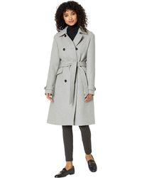 Kate Spade Wool Trench - Gray