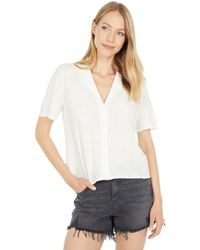 RVCA Baseline Short Sleeve Button-up - White