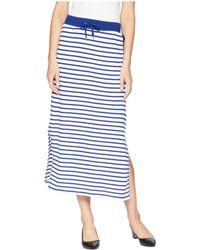 Lauren by Ralph Lauren - Striped French Terry Maxi Skirt - Lyst