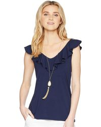 Lilly Pulitzer - Alessa Top (true Navy) Women's Sleeveless - Lyst