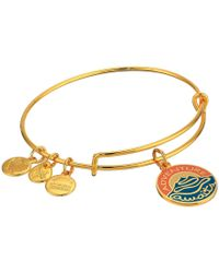 ALEX AND ANI - Words Are Powerful Adventure Awaits Bangle (shiny Gold) Bracelet - Lyst