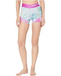 Nike 3 Pro Hyper Femme Shorts - Blue