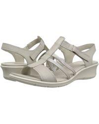 Ecco - Felicia Ankle Sandal (black/black Cow Leather) Women's Sandals - Lyst