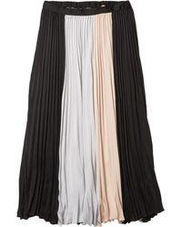 BCBGMAXAZRIA Pleated Midi Skirt - Black