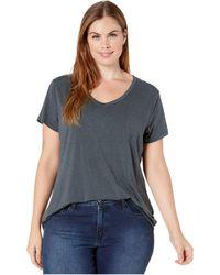 Prana Plus Size Foundation Short Sleeve Top - Blue