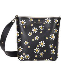 Kate Spade River Daisy Dots Medium Bucket Bag - Black