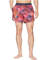 BOSS - Mondrian Fish Swim Trunk (open Pink) Men's Swimwear - Lyst