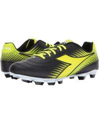 Diadora - Mago L Lpu (black/yellow Flourescent) Men's Soccer Shoes - Lyst