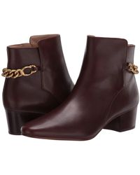 COACH Carissa C Chain Bootie - Brown