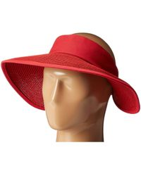 San Diego Hat Company - Pbv010 Four Buttons Visor With Elastic Closure - Lyst