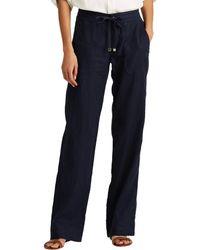Lauren by Ralph Lauren Linen Wide-leg Pants - Blue
