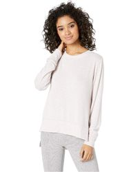 Alo Yoga - Glimpse Long Sleeve Top (concrete Heather) Women's Clothing - Lyst