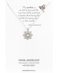 Dogeared - Maya Angelou: Mom & Me Necklace - Lyst