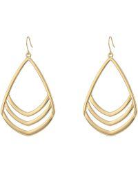 Vince Camuto - Chevron Drop Earrings (gold) Earring - Lyst
