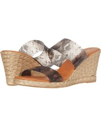 Andre Assous Women's Anfisa Wedge Slide Sandals - Brown