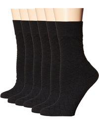 Ecco - Trouser Socks - 6 Pack (black) Women's Crew Cut Socks Shoes - Lyst