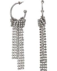 Steve Madden - Open Hoop Chandelier Earrings (silver) Earring - Lyst
