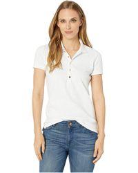 Lauren by Ralph Lauren - Stretch Pique Polo Shirt (white) Women's Clothing - Lyst