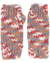 San Diego Hat Company Kng5008 Multi Yarn Fingerless Gloves - Red