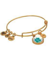 ALEX AND ANI - Duo Charm Mantra Bangle Bracelet - Lyst