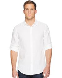 Perry Ellis - Slim Fit Solid Linen Roll Sleeve Shirt (bright White) Men's Clothing - Lyst